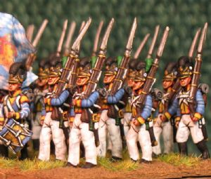 15mm, Napoleonic Bavarian 4th Line Infantry AB 24 figures